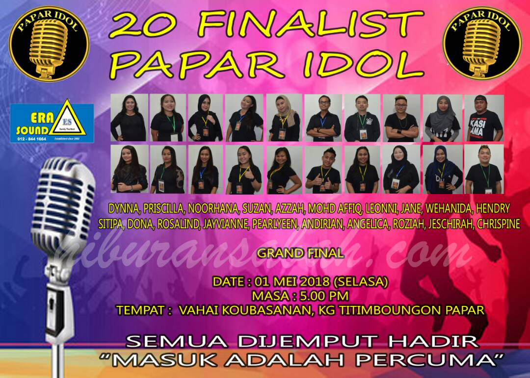 Grand Finale Papar Idol 2018