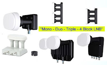 Multifeed: Mono - Duo - Triple - 4 Block LNBs