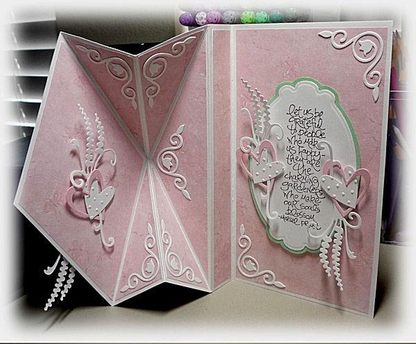 bloomin' paper upright diamond fold card