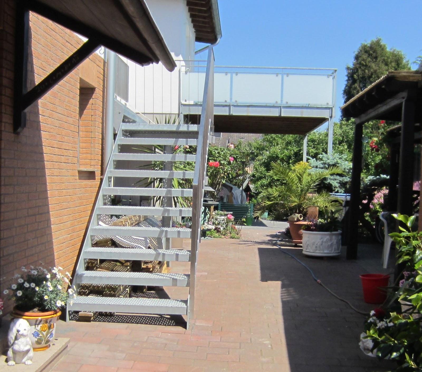 Treppe Edelstahlstufen Balkon Stahl Verzinkt Frobel Metallbau