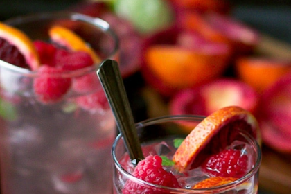 BLOOD ORANGE AND RASPBERRY MOJITO RECIPE