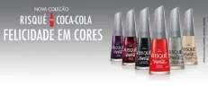Novos Esmaltes Risqué Coca-Cola 2019 - 6 Cores Lançamento Nova Coleção
