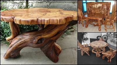 30 mesas de madera rusticas artesanales