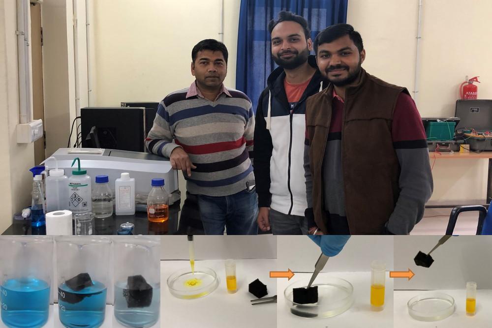 (From L to R) Dr. Rahul Vaish, Associate Professor, School of Engineering, IIT Mandi_ Mr. Gurpreet Singh and Mr. Vishvendra Pratap Singh