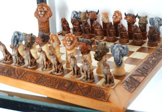 african arts chess set