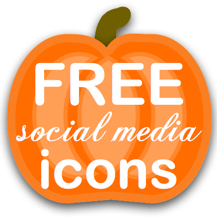 FREE #pumpkin social media buttons for your blog or website! | download at I Gotta Create!