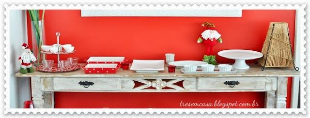 dica decoração mesa natal