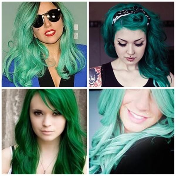 inspiração cabelos verdes