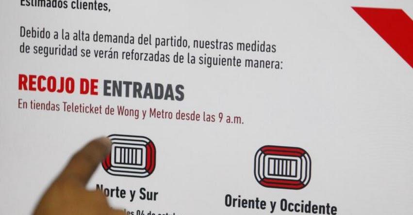 PERÚ COLOMBIA 2017: Conoce los requisitos para el recojo de las entradas - Compras Vía Internet - www.teleticket.com.pe