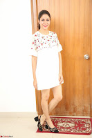 Lavanya Tripathi in Summer Style Spicy Short White Dress at her Interview  Exclusive 307.JPG