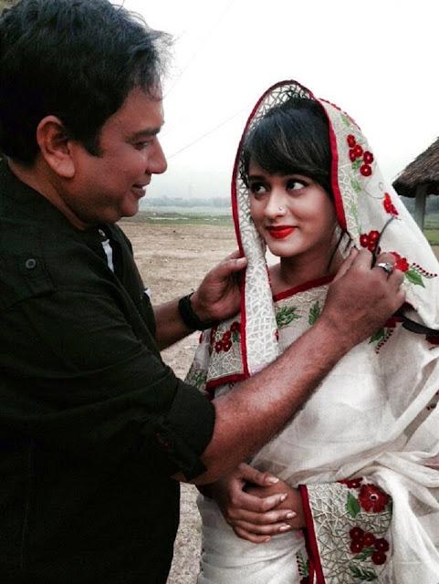Ahona Rahman In Her Dramas (Natok) With Actor Zahid Hasan Hot Photos