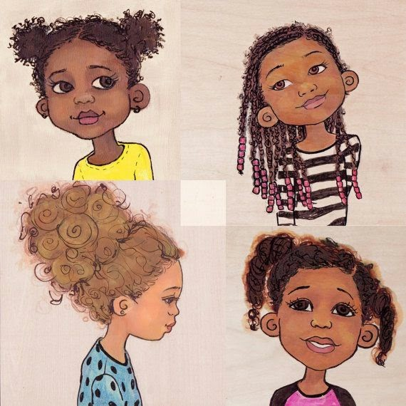 Natural Hair Kids Art
