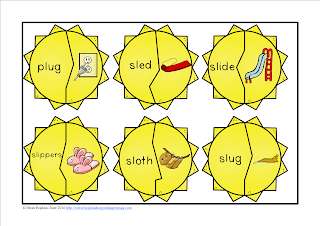 FREEBIE L Blends Sunshine Puzzles
