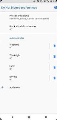 cara mengaktifkan Jangan Ganggu 'do not distrub' di versi terbaru Android Oreo