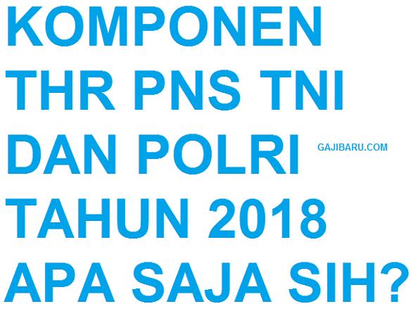 KOMPONEN THR PNS 2018