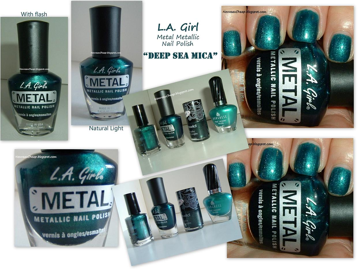 What S New In Cosmetics Metallic Nail Polish By Quot La Girl Quot Cosmetics