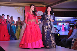 South Indian Celebrities Pos at Love For Handloom Collection Fashion Show  0142.jpg