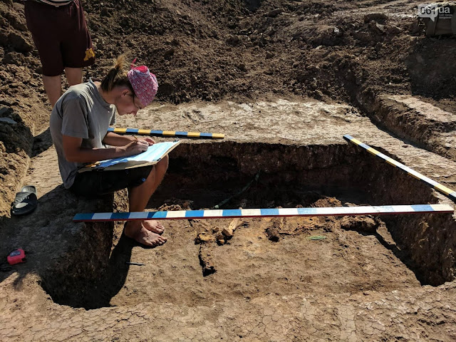 Ukrainian archaeologists discover unique Bronze Age burial of Yamna 'tribal leader'