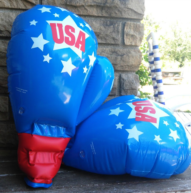 Fun, inflatable boxing gloves from Oriental Trading.