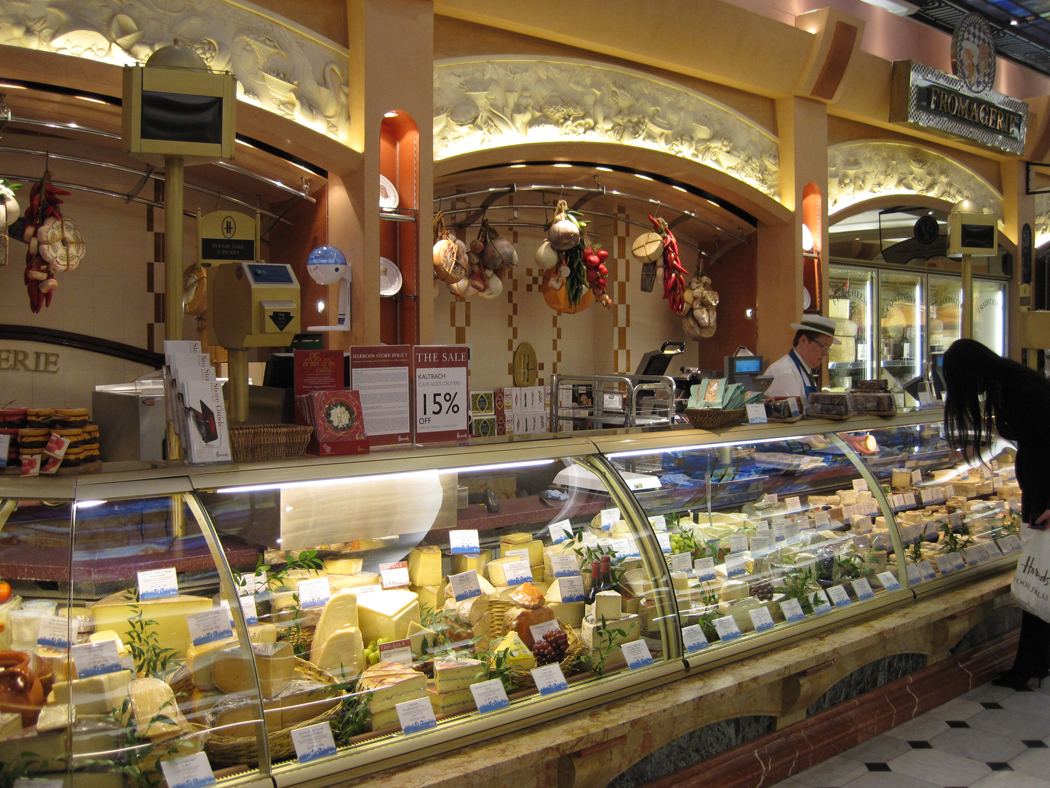 Harrods Food Hall Cheese