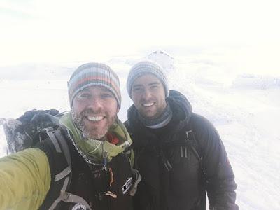 Ben Nevis summit in winter