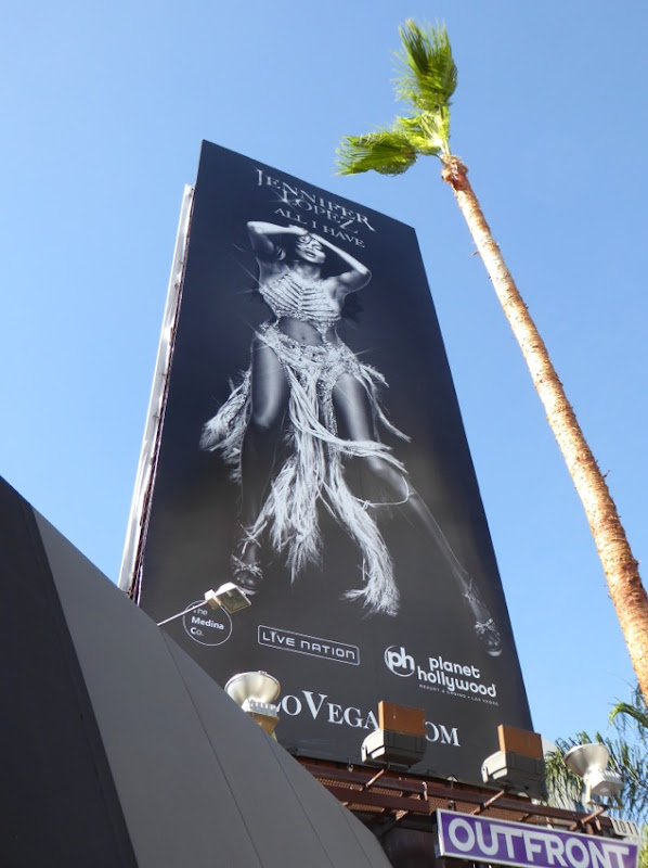 JLO All I Have Las Vegas show billboard