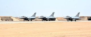 Egyptian air force dassault rafale taking off