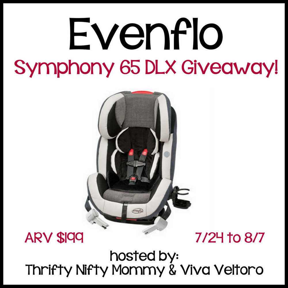 enter to win an evenflo symphony 65 dlx car seat giveaway. Black Bedroom Furniture Sets. Home Design Ideas