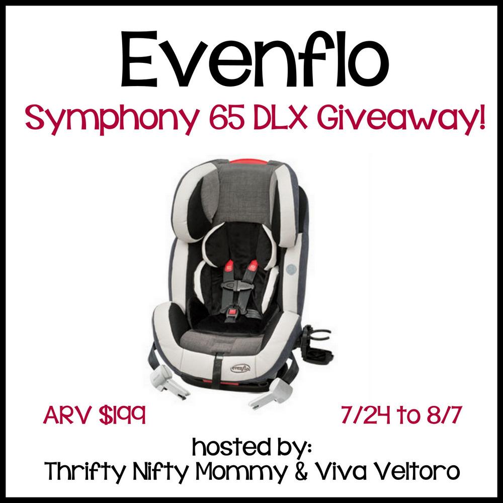 enter to win an evenflo symphony 65 dlx car seat giveaway. Black Bedroom Furniture Sets. Home Design Ideas