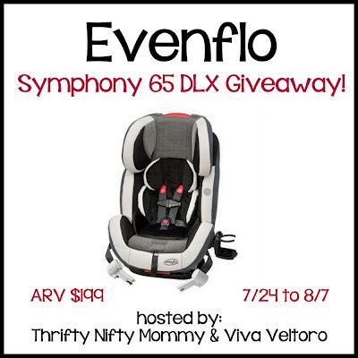 Evenflo Symphony 65 DLX Giveaway