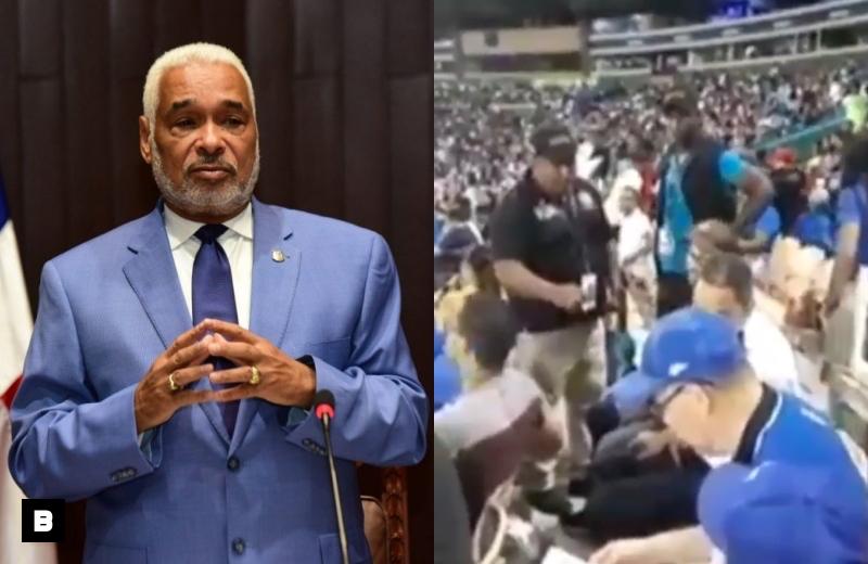 Video: Radhamés Camacho ordena apresar joven que le dijo corrupto en el Estadio Quisqueya