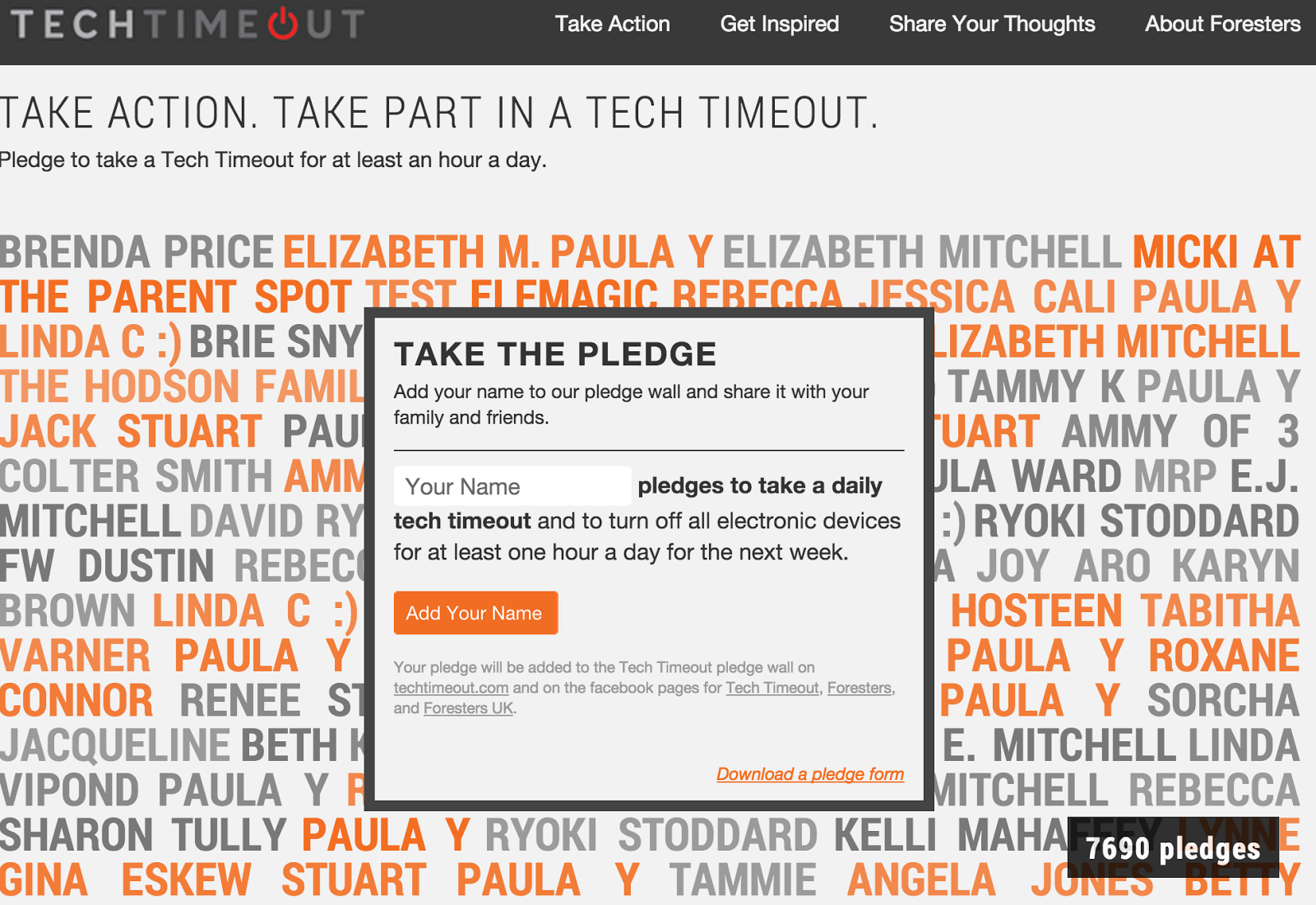 Take the Tech Timeout Challenge this Holiday