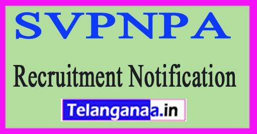 SVPNPA Sardar Vallabhbhai Patel National Police Academy Recruitment Notification 2017