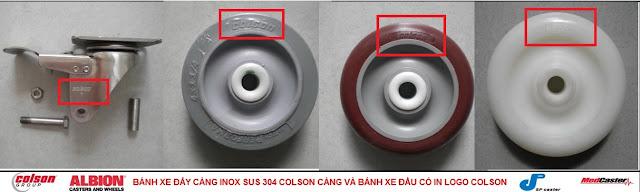 Bánh xe đẩy thủy sản càng inox 304 Colson Caster Mỹ tại Trà Vinh www.banhxedayhang.net