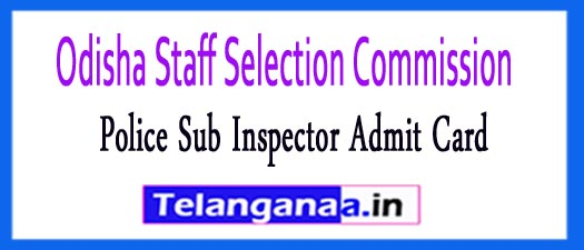 OSSC Police Sub Inspector Admit Card 2018
