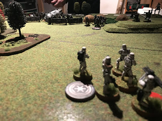 The Imperials on the flank were taking a lot of damage