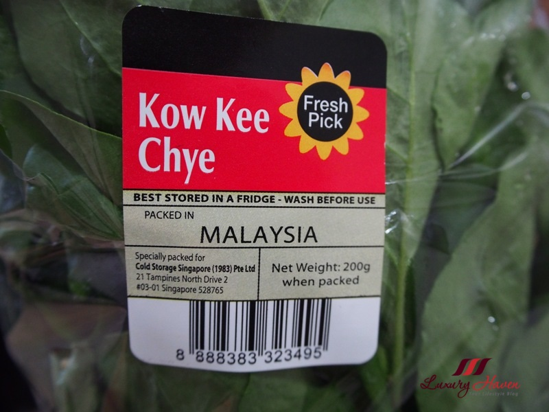 cold storage kow kee chye recipe