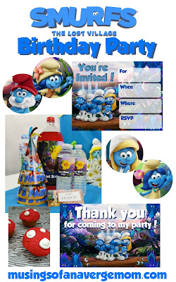 smurfs 3 birthday party