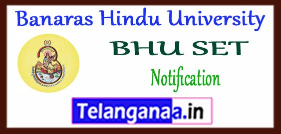 BHU Banaras Hindu University SET Notification 2018 Application Admit Card Result