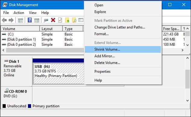 كيفية تقسيم الفلاشة لأكثر من بارتيشن بدون برامج 4.PNG