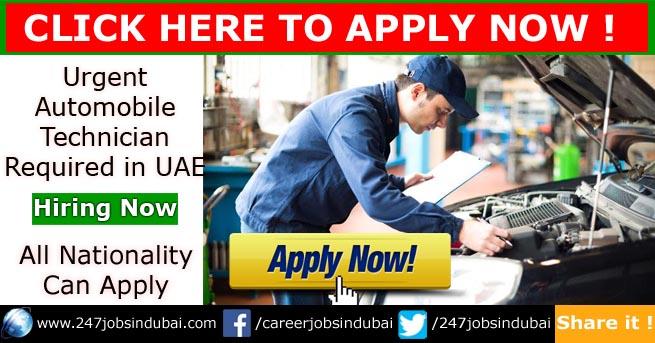 automobile jobs in dubai