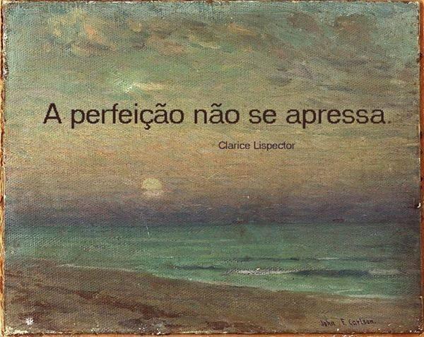 Frases De Clarice Lispector: A Perfeição