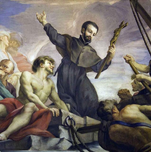 São Francisco Xavier convertendo pagãos nos tempos gloriosos da ordem inaciana.