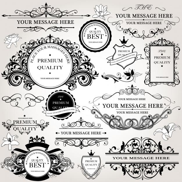 Ornamental logo collection Free Vector