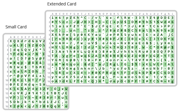 Generate a Password Card
