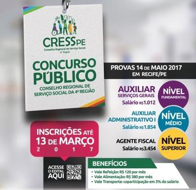Concurso CRESS/PE 4ª Região 2017