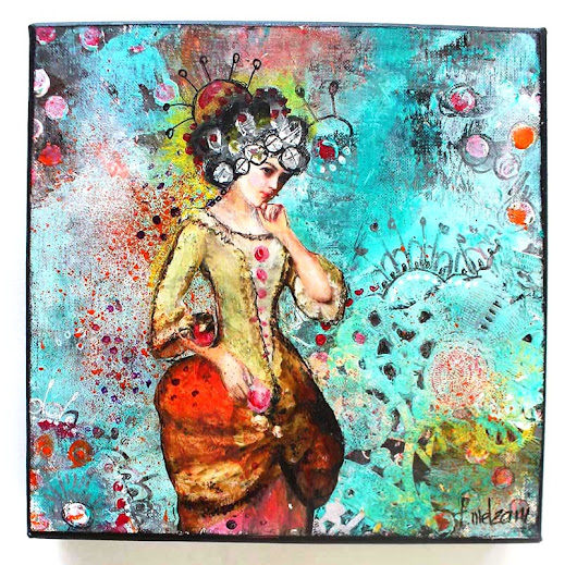 Un tableau Mixed-Media pour les enchères de Give Your Scrap