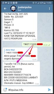 Cara Isi Saldo KHPulsa Lewat Telegram