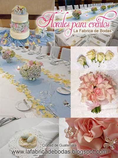 Boda guatemala en rosado verde celeste hortensias romantico  centros de mesa