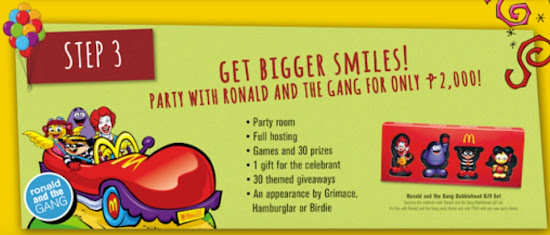 McDo Party freebies